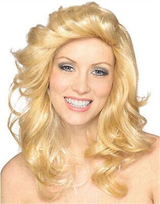 Charlies Angel Blonde Farrah Feathered Farrah Fawcett Disco Adult - Charlies Angels Wigs