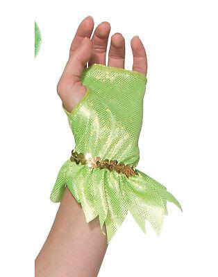 Miss Folletto Donna Adulto Trilly Campanellino Costume da Fata Verde Guanti