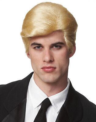 Echt HERREN Blond Business Man Super Hero Haare Kostüm Perücke