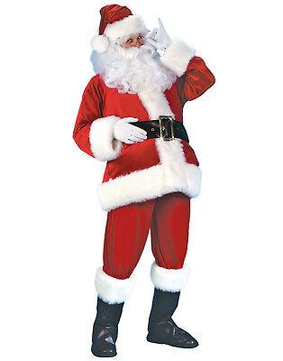 Velvet Weihnachtsmann Anzug Herren Erwachsene Herr Claus Weihnachtsferien (Herr Mann Kostüm)