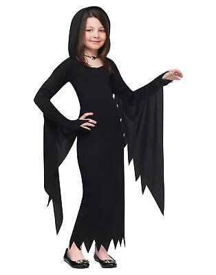 Hooded Gown Scream Movie Long Vampire Dress Girls Witch Halloween