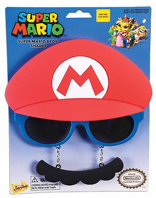 er Marios Brothers Sonnenbrille Sunstaches (Super Mario Sonnenbrille)