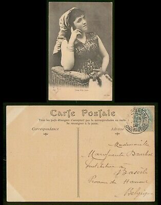 Mayfairstamps Algeria 1906 Constantine Jeune Fille Juive Picture Postcard wwo894