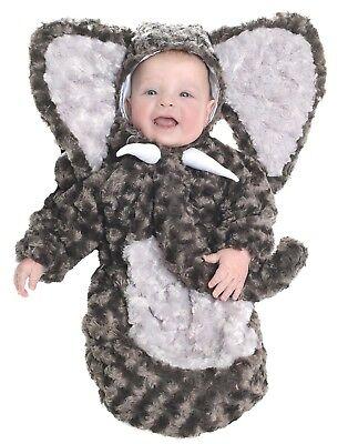 Grey Elephant Plush Bunting Baby Animal Infant Halloween Costume-