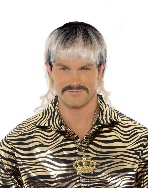 Tiger King Joe Exotic Mens Adult Mixed Blonde Mullet Tv Series Costume Wig