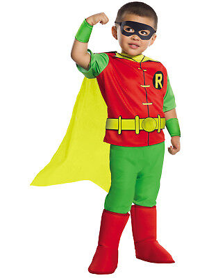 Dc Comics Deluxe Robin Toddler Boy Teen Titan Halloween Costume-Xs