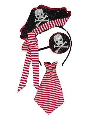 Pirate Unisex Child Buccaneer Accessory Halloween Costume Kit