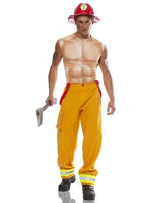 Feuerwehrmann Dude Sexy Muskel Brust Hemd Junggesellen Party Herren - Feuerwehrmann Kostüm Sexy