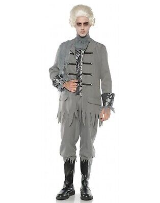 Colonial Ghost Mens Adult Victorian Soldier Halloween Costume -Os - Ghost Costume Adult