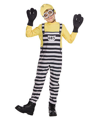 Despicable Me 3 Jailed Minion Tom Boy Childs Halloween - Tomboy Costumes