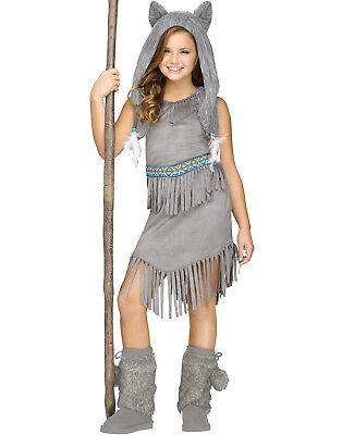 Gray Wolf Dancer Girls Native American Indian Halloween Costume