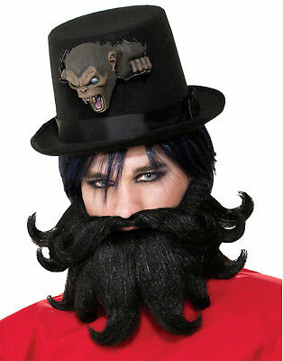 Scoundrel Adult Mustache And Beard Mens Fake Hair - Fake Moustache And Beard