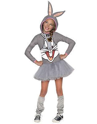 Looney Tunes Bugs Bunny Girls Hooded Tutu Dress Costume