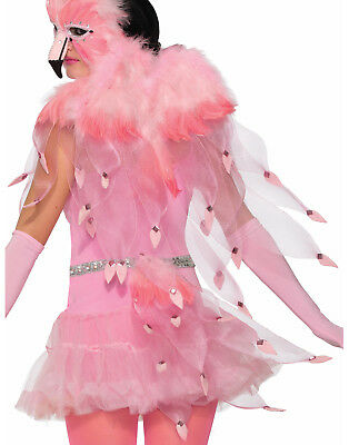 Flamingo Feather Pink Womens Animal Bird Wings Costume - Flamingo Wings Costume