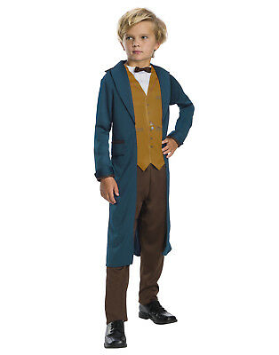 Fantastic Beasts And Where To Find Them Boys Newt Wizard Costume - Wizard Costume For Boy