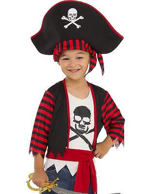 Boys Buccaneer Bones Pirate - Little Pirate Captain Boys Buccaneer Cross Bone Child Halloween Costume
