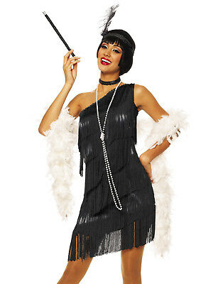 The Great Gatsby Black Flapper Roaring 20'S Vintage Sexy Halloween Costume ()