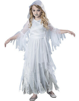 White Haunting Beauty Ghost Scary Girls Child Halloween - Scary Costumes For Girls For Halloween