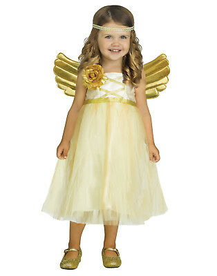 My Angel Baby Girls Toddler Gold Princess Halloween Costume