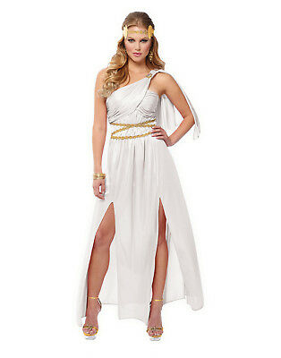 Roman Empress Womens Adult White Greek Goddess Halloween Costume - White Greek Goddess Costume