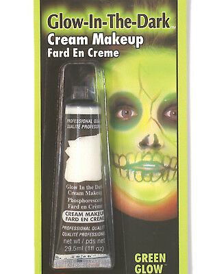 Halloween Makeup Ghost (Glow In Dark Halloween Foundation Face Ghost Skull Cream)