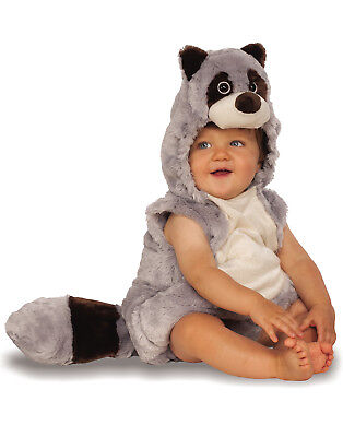 Baby Raccoon Infant Toddler Plush Fluffy Animal Halloween Costume](Raccoon Halloween Costume)