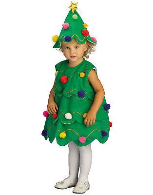 Kleinkind Weihnachtsbaum Kostüme (Kleinkinder Weihnachten Kostüm Kleiner Weihnachtsbaum Kleid mit Kopfbedeckung)