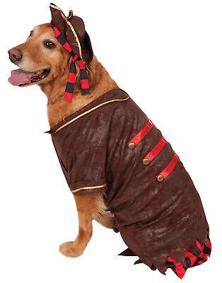 Pirat Freibeuter Karibisches Junge Groß Hund Haustier Halloween Kostüm (Junge Hund Halloween-kostüme)