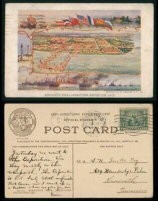Mayfairstamps Expo Birds Eye View Jamestown Postcard wwo_64073