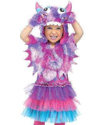 Polka Dot Monster Fluffy Monsters University Toddler Girls Halloween Costume (Monster University Costume)
