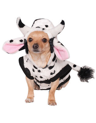 Cow Cattle Pet Dog Cat Hoodie Sweater Halloween - Dog Halloween Cow Costume