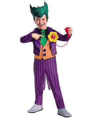 Dc Comics Jungen Luxus der Joker Kinder Bösewicht Halloween - Der Joker Kostüm Kinder