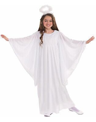 Weiß Schutzengel Abendkleid Kostüm mit Heiligenschein (Süße Engel Kostüm)