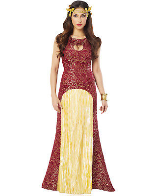 Noble Lady Womens Burgundy Lady In Waiting Dress Halloween Costume](Lady In Waiting Halloween Costume)