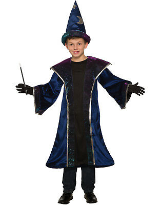 Celestial Sorcerer Boys Child Spell Casting Wizard Costume - Wizard Costume For Boy