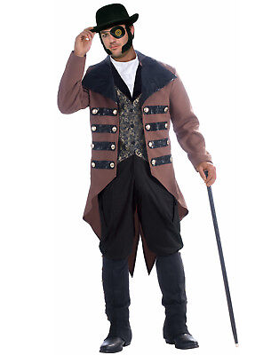 Steampunk Jack Mens Adult Victorian Gentlemen Halloween Costume-X