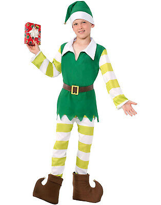 Santa Claus Elf (Elf Costume Santa Claus Helper Childs Christmas Halloween)