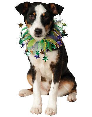 Mardi Gras Star Fancy Pet Dog Cat Costume Scrunchie Collar
