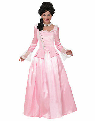 Colonial Halloween Costumes Adults (Pink Colonial Maiden Womens Adult Revolutionary Halloween)