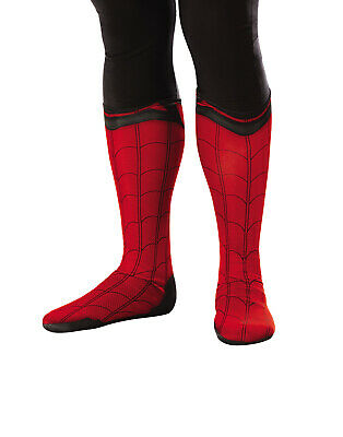 Spiderman Far From Home Herren Erwachsene Stoff Superheld Kostüm Stiefel Top (Spiderman Kostüm Stoff)