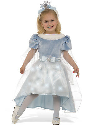 Winter Princess Girls Snowflake Fairy Child Halloween Christmas Costume