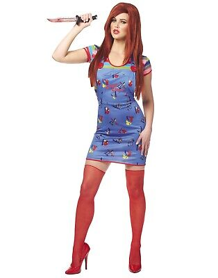Sexy Chucky Womens Adult Good Guys Killer Doll Halloween