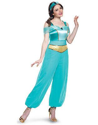 Disney Prinzessin Aladdin Jasmin Erwachsene Damen Luxus (Damen Disney Jasmine Kostüm)