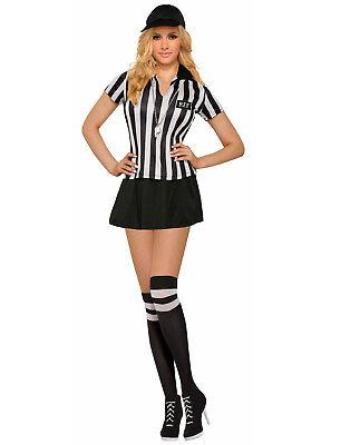 Sexy Schiedsrichter Damen Erwachsene Sport Richter Halloween Costume-Std ()