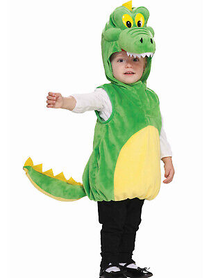Toddler Boys Girls Unisex Kids Alligator Cuddlee Crocodile Dragon Costume - Crocodile Toddler Costume