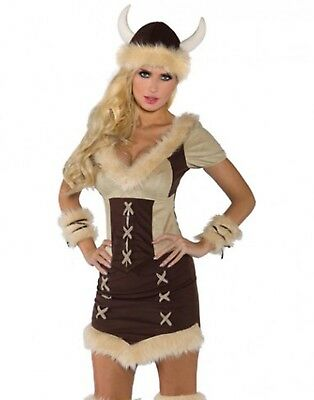 Sexy Viking Gladiator Trojan Warrior Dress Barbarian Lady Halloween - Viking Lady Costume