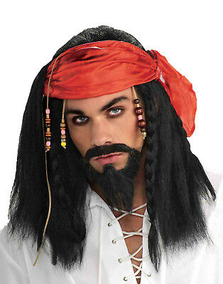 Südsee Seeräuber Herren Erwachsene Seeräuber Schwarze Piraten Kostüm (Südsee Piraten Kostüme)