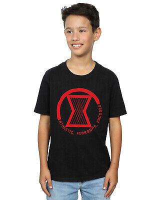 Marvel Niños Black Widow Movie Athletic Logo Camiseta Negro 9-11 Anos