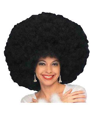 Riesige Afro Damen Erwachsene 70s Jahre Disco Diva Schwarz Kostüm - Afro Diva Kostüm