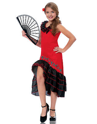 Senorita Dancer Girls Child Spanish Flamenco Performer Dancer - Flamenco Girls
